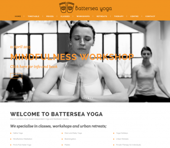 Battersea Yoga Website Overhaul