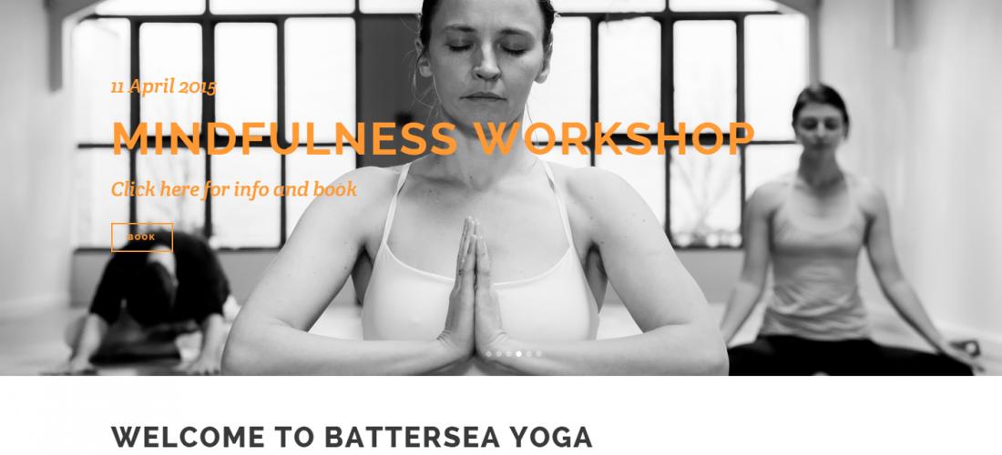 Battersea Yoga Website Overhaul